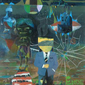 Hotellkungen, Oil on canvas, 195 x 150 cm, 2008