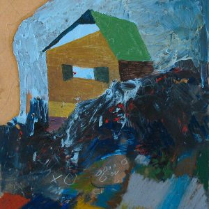 Skuggsidan, 2013. Oil and oil pastel on board, 59 x 41 cm