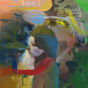 Den Blå Peppariskan, Oil on canvas, 92x82cm, 2003