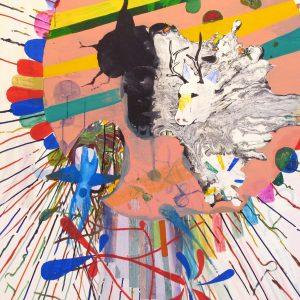 Jorden är en syndfull sång, Acrylic on canvas, 190x165 cm, 2006