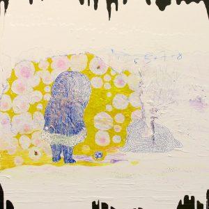 Kura skymning, Acrylic and drawing on panel, 80x65 cm, 2005