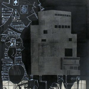 Kvinnofängelset, 2006. Mixed media on paper, 120x80 cm.