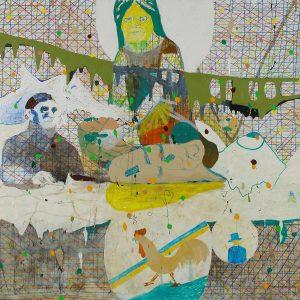 Moder Teresa matar de sina, Acrylic on canvas, 160x195cm, 2007