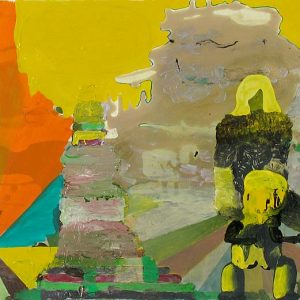 The Kid, 2008. Acrylic and lacquer on canvas, 50 x 99 cm.