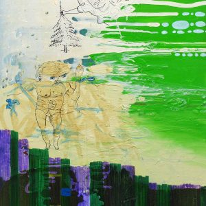 Y-front, Acrylic and drawing on canvas, 90 x 70, 2006